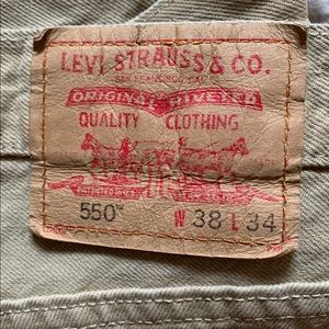 Levi's 550 Relaxed Fit Jeans 38W x 34L Tan
